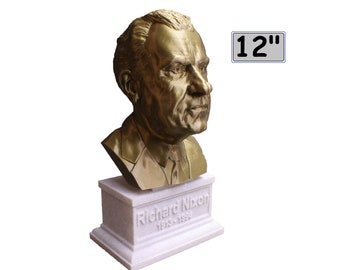 Richard Nixon USA President #37 12 inch 2 color 3D Printed Bust