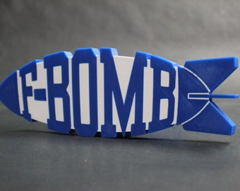 """F-BOMB Trailer Hitch Receiver Plug that fits 2"""" Receivers for car, truck, or SUV"""