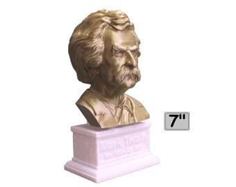 Mark Twain (AKA Samuel Clemens), American Writer, Humorist, Entrepreneur, and Lecturer 7 inch 3D Printed Bust