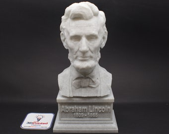 Abraham Lincoln USA President #16 7 inch 3D Printed Bust