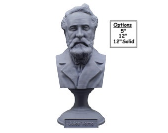 Jules Verne Famous French Novelist, Poet, and Playwright 3D Printed Bust