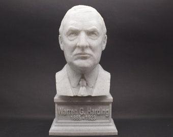 Warren G. Harding USA President #29 7 inch 3D Printed Bust