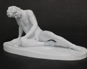 The Dying Gual 8in FDM 3D Printed Statue from a scan of the Roman Collection in Capitoline Museum