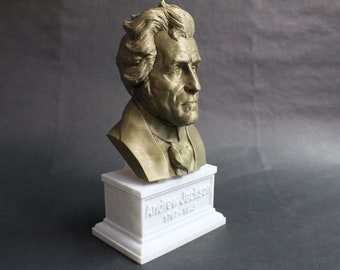 Andrew Jackson USA President #7 12 inch 3D Printed Bust