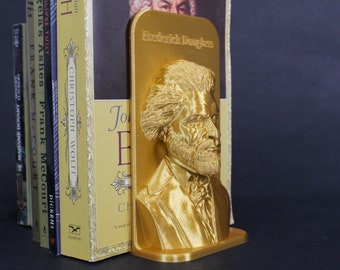Frederick Douglass and Other Famous Authors 3D Printed Bookend Book Frame