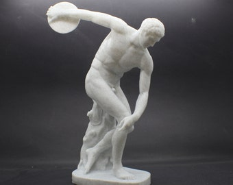 Large Discobolus of Myron (The Discus Thrower) FDM 3D Printed Statue from Royal Cast Collection at SMK in Denmark