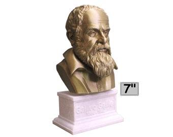 Galileo Galilei, Italian Polymath, Astronomer, Physicist, and Engineer 7 inch 3D Printed Bust