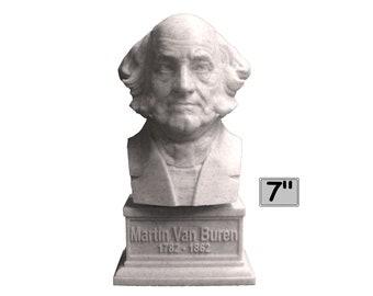 Martin Van Buren USA President #8 7 inch 3D Printed Bust