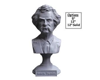Mark Twain (AKA Samuel Clemens), American Writer, Humorist, Entrepreneur, and Lecturer 3D Printed Bust