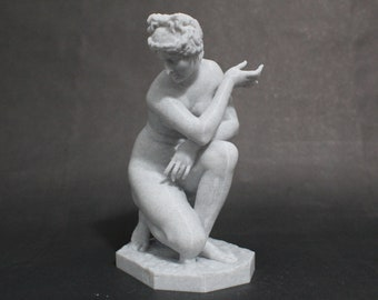 Crouching Venus FDM 3D Printed Hellenistic Sculpture Replica