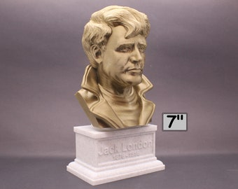 Jack London, Famous American Novelist 7 inch 3D Printed Bust