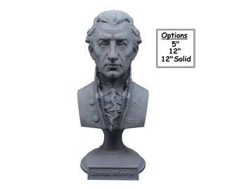 James Monroe USA President #5 5 inch 3D Printed Bust