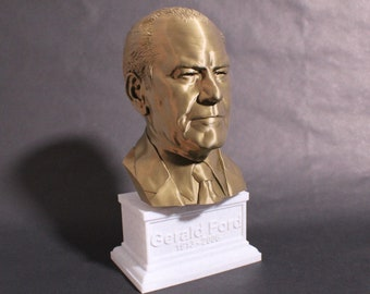 Gerald Ford USA President #38 12 inch 2 color 3D Printed Bust