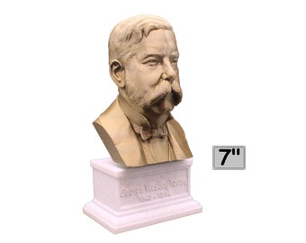 George Westinghouse Jr. Famous American Businessman and Engineer 7 inch 3D Printed Bust