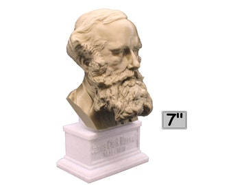 James Clerk Maxwell Famous Scottish Scientist Mathematical Physics 7 inch 3D Printed Bust