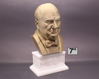 Winston Churchill British Statesman, Army Officer, Writer, and Prime Minister 7 inch 3D Printed Bust