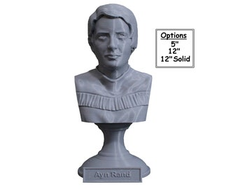 Ayn Rand, American Writer and Philosopher 3D Printed Bust