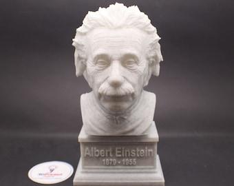 Albert Einstein 7 inch 3D Printed Bust