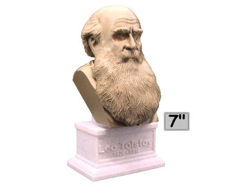 Leo Tolstoy Russian Writer 7 inch 3D Printed Bust