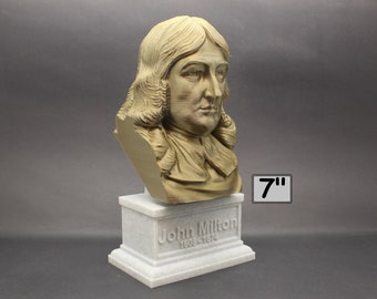 John Milton Famous English Poet and Intellectual 7 inch 3D Printed Bust