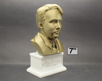 Robert Frost American Poet 7 inch 3D Printed Bust