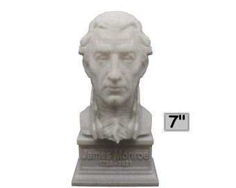 James Monroe USA President #5 7 inch 3D Printed Bust