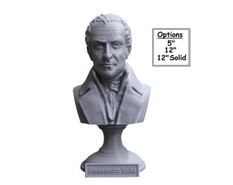 Alessandro Volta Italian Pioneer of Electricity and Power 3D Printed Bust