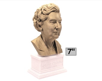 Agatha Christie Famous English Writer 7 inch 3D Printed Bust