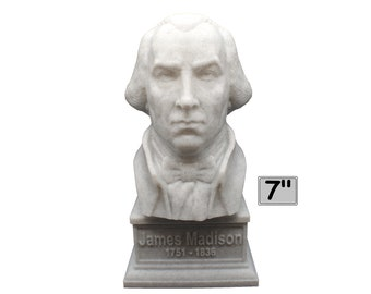 James Madison USA President #4 7 inch 3D Printed Bust