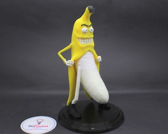 Flashing Banana Figure with Base inspired by Habitual Fix