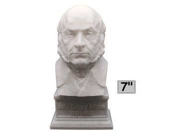 John Quincy Adams USA President #5 7 inch 3D Printed Bust