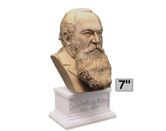 John Dalberg-Acton (Lord Acton) , English Catholic Historian, Politician, and Writer 7 inch 3D Printed Bust