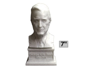 George H.W. Bush USA President #41 7 inch 3D Printed Bust