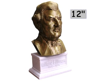 Millard Fillmore USA President #13 12 inch 2 color 3D Printed Bust
