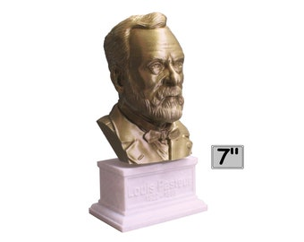 Louis Pasteur French Biologist, Microbiologist, and Chemist 7 inch 3D Printed Bust