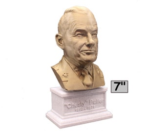 """Lewis Burwell """"Chesty"""" Puller Legendary US Marine Corps General USMC 7 inch 3D Printed Bust"""