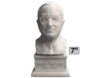Harry Truman USA President #33 7 inch 3D Printed Bust