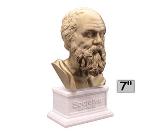 Socrates Greek Philosopher 7 inch 3D Printed Bust