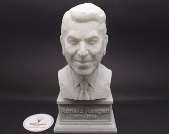 Ronald Reagan USA President #40 7 inch 3D Printed Bust