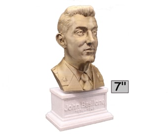 John Basilone US Marine Corps Medal of Honor Winner 7 inch 3D Printed Bust