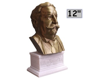 William Howard Taft USA President #27 12 inch 2 color 3D Printed Bust