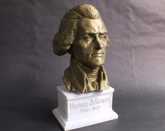 Thomas Jefferson USA President #3 12 inch 2 color 3D Printed Bust