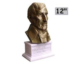 William Henry Harrison USA President #9 12 inch 2 color 3D Printed Bust