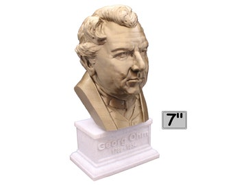 Georg Ohm Famous German Physicist and Mathematician  7 inch 3D Printed Bust