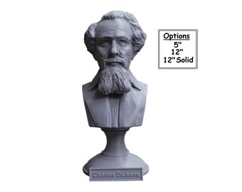 Charles Dickens English Writer and Social Critic 3D Printed Bust