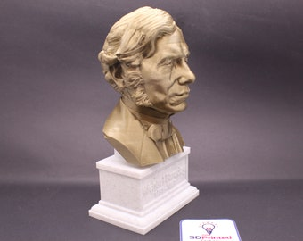 Michael Faraday Famous British Electromagnetic and Electrochemical Scientist   7 inch 3D Printed Bust