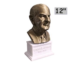 Lyndon B. Johnson USA President #36 12 inch 2 color 3D Printed Bust