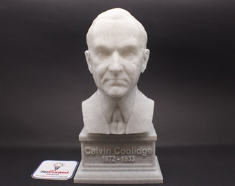 Calvin Coolidge USA President #30 7 inch 3D Printed Bust
