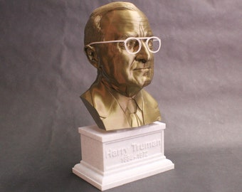 Harry Truman USA President #33 12 inch 2 color 3D Printed Bust