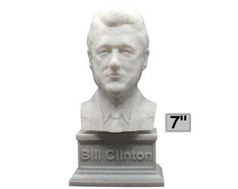 Bill Clinton USA President #42 7 inch 3D Printed Bust